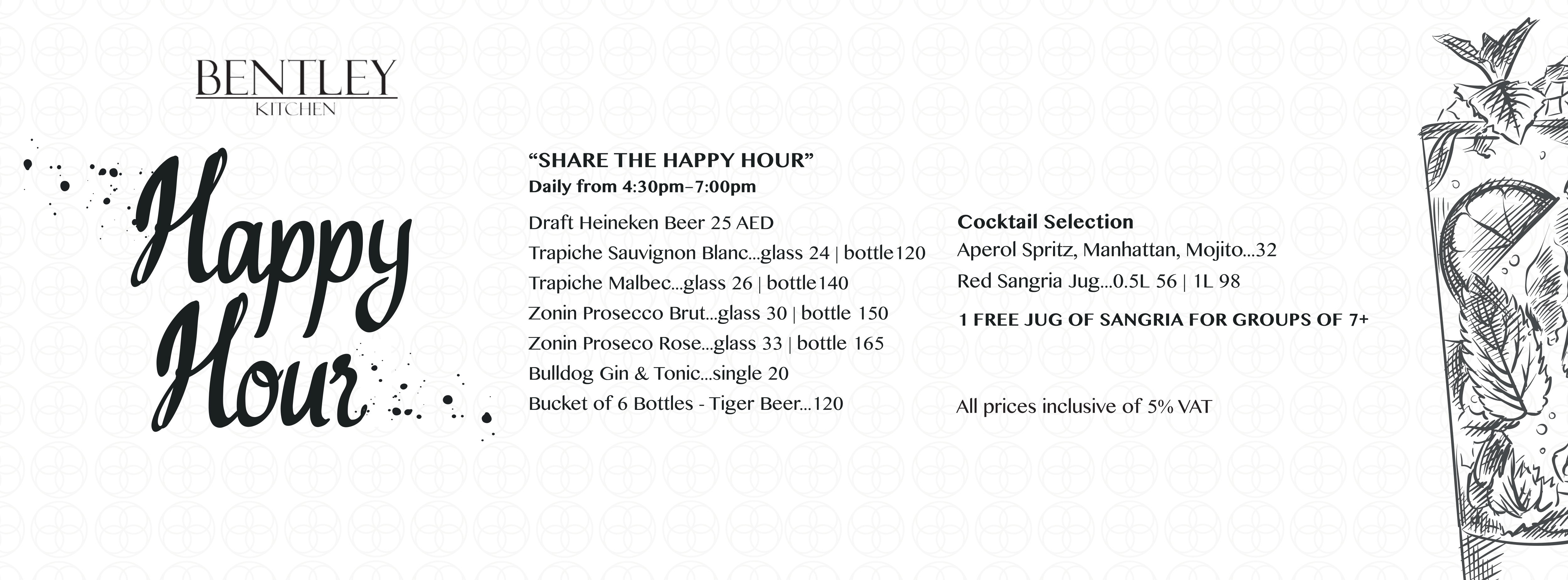 Happy Hour @ Bentley Kitchen | The Capital List