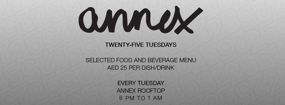 Twenty – Five Tuesdays @ Annex | The Capital List
